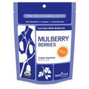 Sun-Dried White Mulberry Berries (Certified Organic) 8 Oz