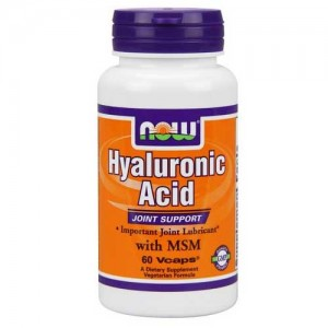 Now Foods Hyaluronic Acid 50 Mg + MSM 60 Vegetable Capsules