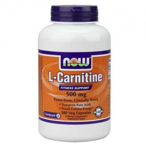 Now Foods Carnitine 500 Mg 180 Vegetable Capsules