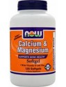Now Foods Calcium and Magnesium w/Vitamin D-3 and Zinc 120 Gels